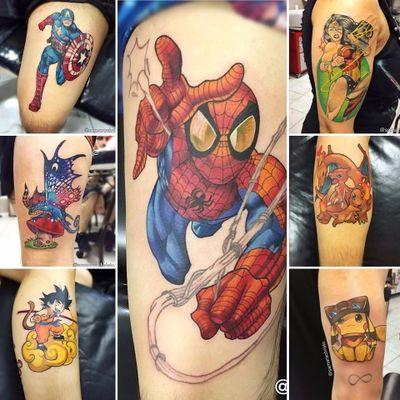 Samara Christo #SamaraChristo #comics #nerd #homemaranha #spiderman #pokemon #dragonball #TatuadorasDoBrasil #tatuadorasbrasileiras #DiaInternacionalDaMulher