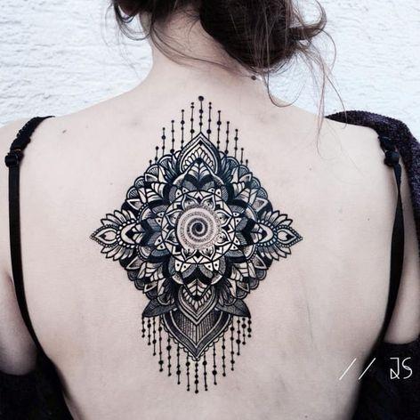 Mandala tattoo by Jessica Svartvit #geometric #mandala #JessicaSvartvit
