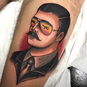 Gentleman Tattoo by Gianluca Artico #gentleman #traditional #traditionalartist #boldwillhold #italianartist #GianlucaArtico