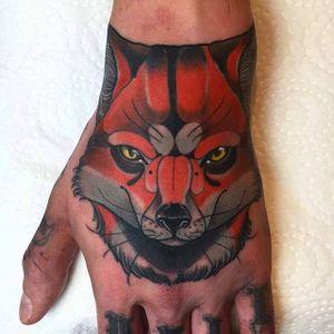 Traditional Fox Tattoo by @jacobiholycrab #fox #foxtattoo #foxtattoos #traditionalfox #traditionalfoxtattoo #traditional #traditionaltattoo #traditionalanimal #acobiholycrab