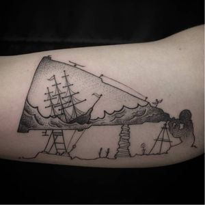 Telescope tattoo. #telescope #TelescopeTattoo #TelescopeTattoos #Science