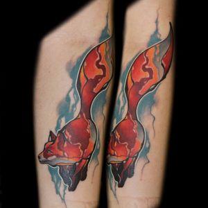 #InkedByMario #MarioGregor #aquarela #watercolor #TatuadorGringo #colorida #colorful #raposa #fox