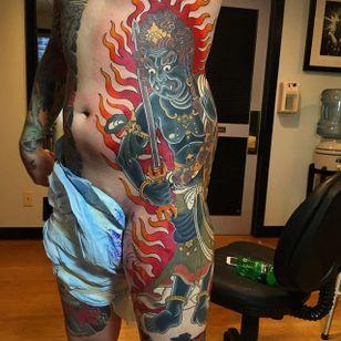 Fudo Myoo Tattoo by Lango Oliveira #fudomyoo #fudo #japanese #japaneseart #irezumi #LangoOliveira