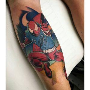Spider-Man Tattoo by Kyle Dyhrberg #SpiderMan #Marvel #Superhero #Comic #KyleDyhrberg