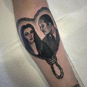 Mortician and Gomez via instagram keely_rutherford #halloween #MorticiaAddams #gomezaddams #theaddamsfamily #blackandgray #cute #KeelyRutherford