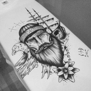 #artshare #blackandgrey #ship #captain #sailor #mariner