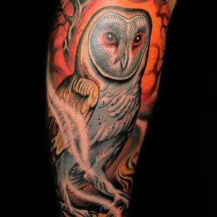 #russabbott #owl #animal #neotraditional