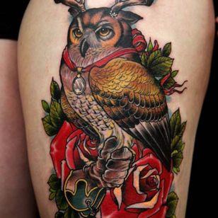 #owl #animal #bird #neotraditional #mashup