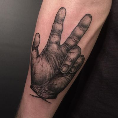 PEACE by Martin #peace #hand #blackandgrey