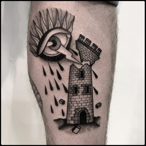 #totemica #tunguska #black #eye #thunder #brick #tower #tattoo #blackworkers #bolognatattooexpo #tattooexpobologna