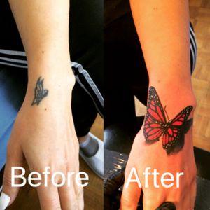 #coveruptattoo #buterflytattoo #tattooart #ink