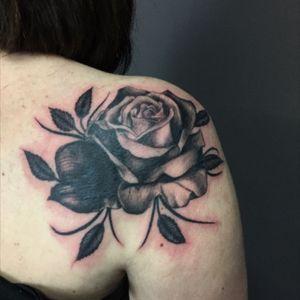 #rose #rosetattoo #blackrose
