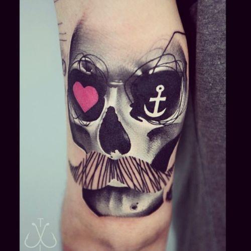 #TimurLysenko #skull#anchor#heart