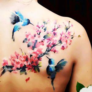By Pete Zelby #hummingbird #flowers