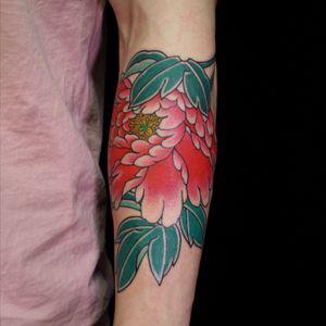 Botan. Oriental tattoo. 3 hours.