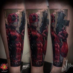 #Deadpool #deadpooltattoo #MarvelTattoo #MarvelTattoos #colortattoo #amazink