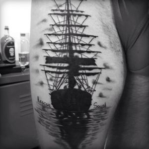 Cover up #navy #Coverup #tattoodo #tattoo #ink #realism #realistic #realistictattoo #gardytattoo #blackandwhiteink
