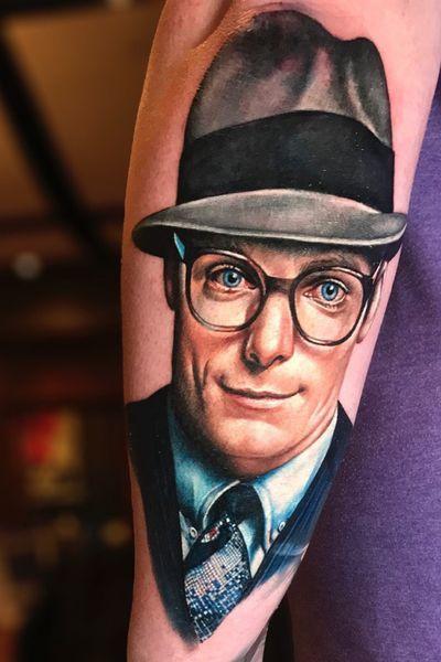 3rd portrait for my classic #superman sleeve. #clarkkent #sarahmiller