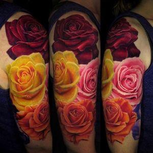 #JamieSchene  #Union3Tattoo #roses #colorrealism  #fusionink