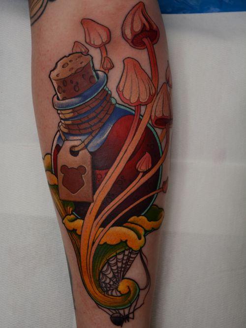 Gummiberry juice for Sara! Thanks! #gummiberryjuice #mushrooms #tattoo #tattoodoambassador