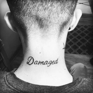 """""""Damaged""""... Drug free for 2 and half years. But there are small parts of me that arr still damaged within.  #dragonflytattoos#Oregon#Damaged#Joker#drugaddiction"""