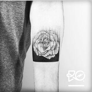 Artist #robertpavez #botattoo #geometric #linework #dotwork #rose #armband