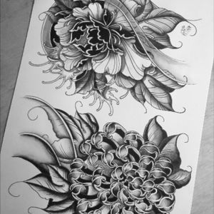 #japanese influence #flowers #Handpainted #originaldesign