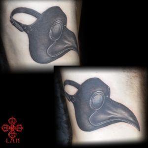 #mask #peste tattoo done by LAN at La verite est ailleurs #bordeaux