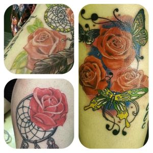 A few roses #rose #realistic #butterfly