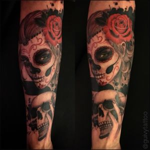 #Catrina #Santamuerte #diadelosmuertos #dayofthedead #mexican #guivy #artforsinners #tattoo #tatouage #geneva #geneve #switzerland