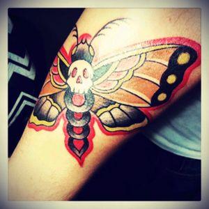#moth #mothtattoo #deathmoth #traditional #traditionaltattoo