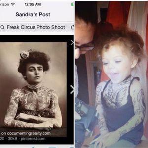First tattoed woman comparison