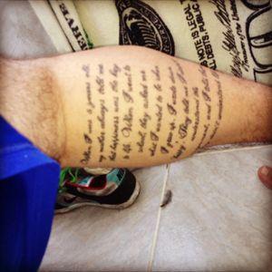 Leg tattoo, words by John Lennon #tattoo #johnlennon