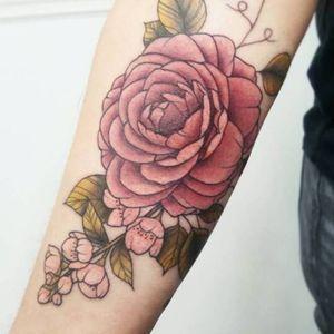 Camellia Floral Tattoo