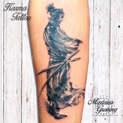 Samurai tattoo, tatuaje de samurai #tattoo #watercolor #tattoodo #marianagroning #tatuaje #ink #inked #tattooed #colortattoo #acuarela #mexico #cdmx #MexicoCity #mexicoink #karmatattoo #samurai