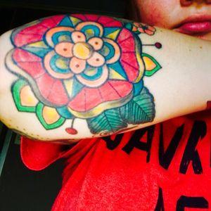 #mandala #sleeve #arm_tattoo I love the #leaves