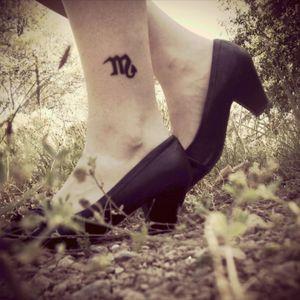 06.2012 #veryfirsttattoo #littletattoo #scorpio #zodiacsign #fullblack