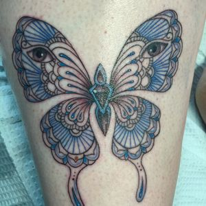 Butterfly.   Almost traditional- almost inspired by the more ornamemtal style.