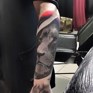#tattoooftheday #tattoos #liontattoo