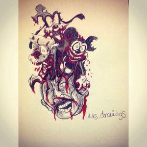 My drawing #MickeyMouse #goofy #Donaldduck