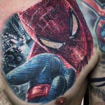 O amigo da vizinhança por Boris Tattoo! #tattoodo #TattoodoApp #TattoodoBR #tatuagem #tattoo #homemaranha #spiderman #comics #marvel #filmes #movies #teia #web #superherois #superheroes #stanlee #colorida #colorful #hqs #quadrinhos #nerd #geek #BorisTattoo