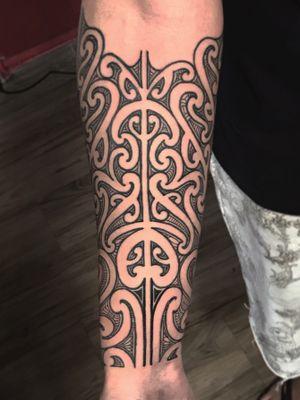 Freehand inspired by Maori tattoo