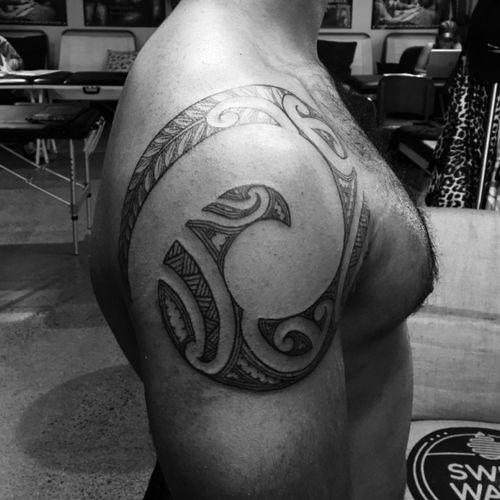 #maorispiral #moko #tamoko #maoritattoos #maoriculture #shouldertattoo