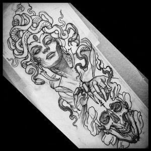 #megandreamtattoo #Medusa #mythology #inlove