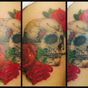 #sugarskull #skulltattoo #skull #rosetattoo #rosestattoo