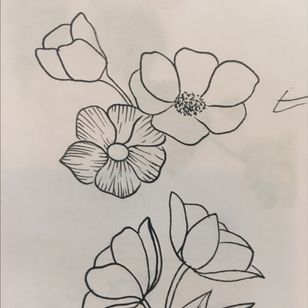 Rough outline of what im getting on my #halfsleave #sleeve #daintyflower #girlytats