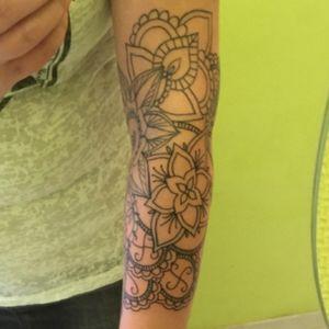 #mandalatattoo #mandala #arm #ornamental #flower