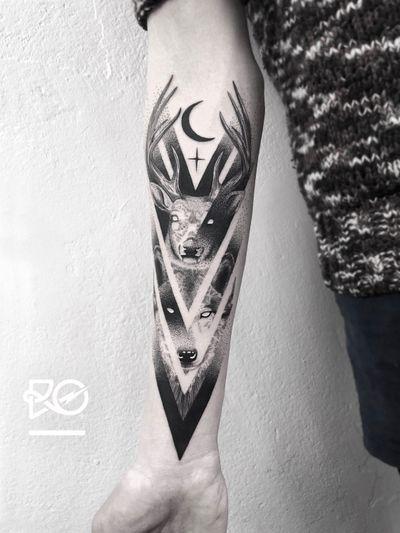 By RO. Robert Pavez • Night Lords II ➖ Studio Zoi tattoo Stockholm 🇸🇪 • 2018 • #engraving #dotwork #etching #dot #linework #geometric #ro #blackwork #blackworktattoo #blackandgrey #black #tattoo #fineline