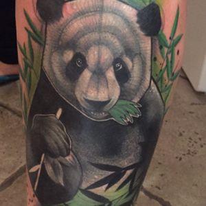 🐼💜 #panda #schienbein #ouch #6hours #cutie #bambusbjörn #love #tattoo #inkedchick #sohappy #sannitormen #shesthebest