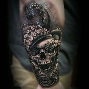 Or this one #dreamtattoo #skull #octopus #skulltattoo #tattoodo @amijames